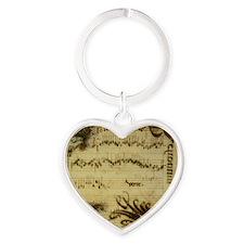 sheetmusic_coaster9 Heart Keychain