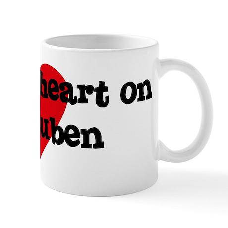 Heart on for Ruben Mug