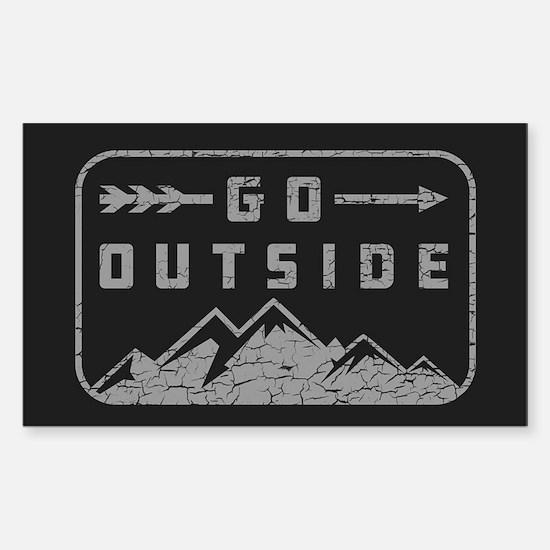 Go Outside Sticker (Rectangle)