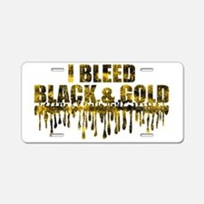 BLEED BLACK Aluminum License Plate