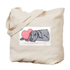Blue UC Holds Heart Tote Bag