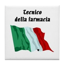Pharmacy Technician (Italy) Tile Coaster
