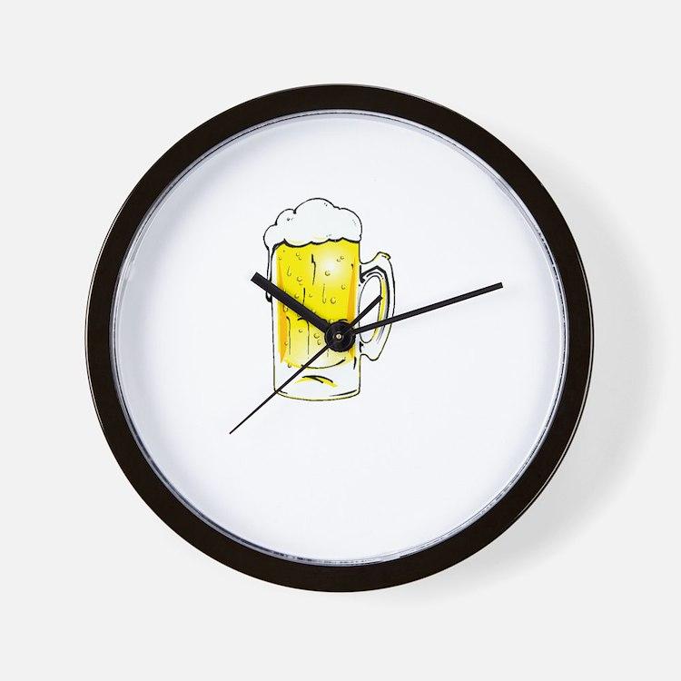 Dog Beers - Black Wall Clock
