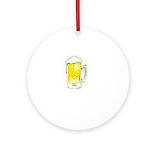 Dog Beers - Black Round Ornament