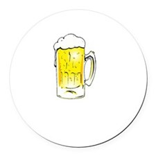 Dog Beers - Black Round Car Magnet