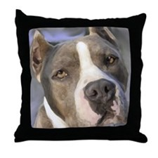 Cute Amstaff art Throw Pillow