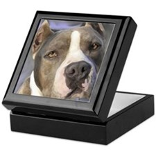 Funny American staffordshire terrier Keepsake Box