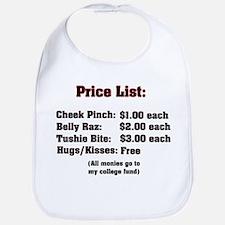 Baby Adoration Price List Bib