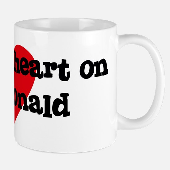 Heart on for Ronald Mug
