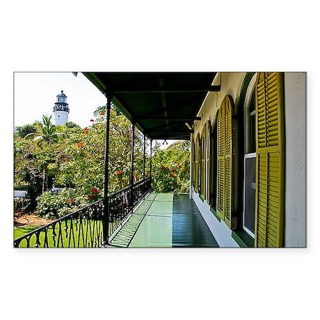 Lighthouse at Key West Sticker (Rectangle)
