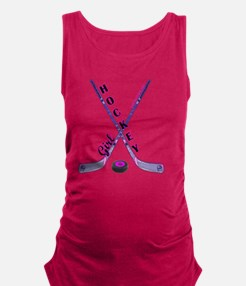 hockey_girl_3 Maternity Tank Top