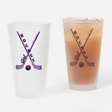 hockey_girl_3 Drinking Glass