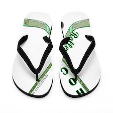 rolller_green_black Flip Flops