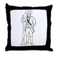 Revolutionary War Soldier Throw Pillow