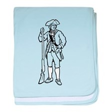 Revolutionary War Soldier baby blanket