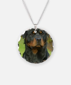 Rottweiler 9W044D-073 Necklace Circle Charm