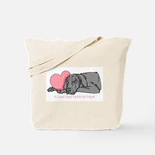 Black UC Holds Heart Tote Bag