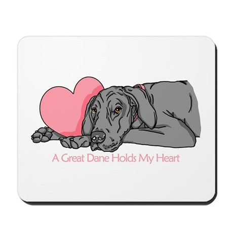 Black UC Holds Heart Mousepad