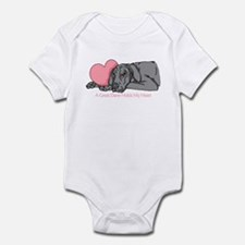 Black UC Holds Heart Infant Bodysuit