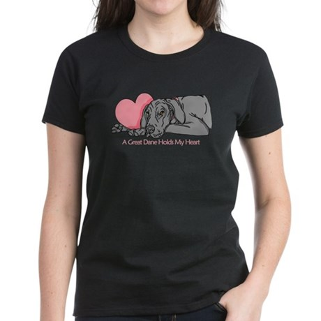 Black UC Holds Heart Women's Dark T-Shirt