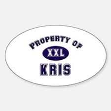 Property of kris Oval Decal