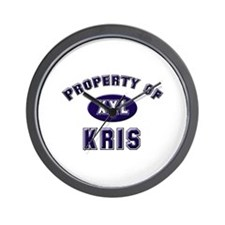 Property of kris Wall Clock