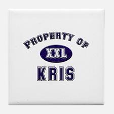 Property of kris Tile Coaster