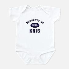 Property of kris Infant Bodysuit