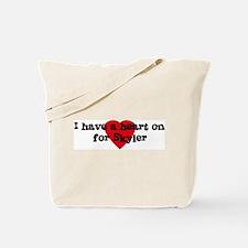 Heart on for Skyler Tote Bag