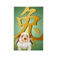 Year Of The Rabbit PosterP Rectangle Magnet