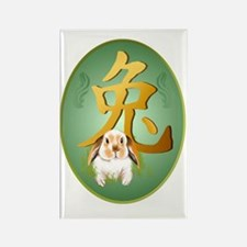 Year Of The Rabbit Oval Trans Rectangle Magnet