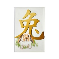Year Of The Rabbit Trans Rectangle Magnet