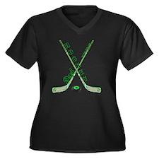 hockey_dad Women's Plus Size Dark V-Neck T-Shirt