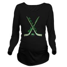 hockey_dad Long Sleeve Maternity T-Shirt