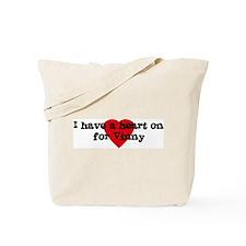Heart on for Vinny Tote Bag