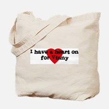 Heart on for Vinny Tote Bag