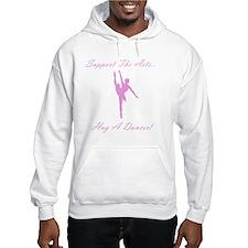 Hug A Dancer Pink Hoodie