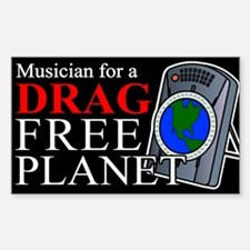 """""""Drag Free World"""" Rectangle Decal"""
