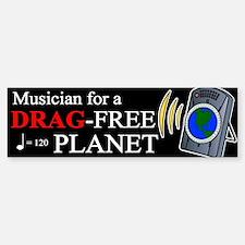 """Drag Free World"" Bumper Bumper Bumper Sticker"