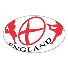 England Rugby player passing kickin Decal