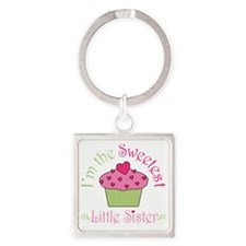 sweetest_little_sister Square Keychain