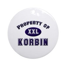Property of korbin Ornament (Round)
