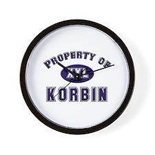 Property of korbin Wall Clock