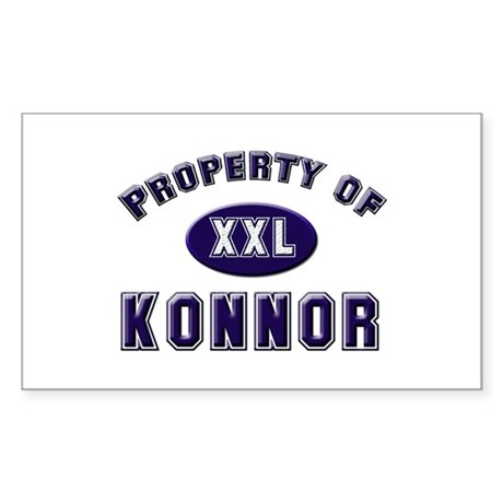 Property of konnor Rectangle Sticker