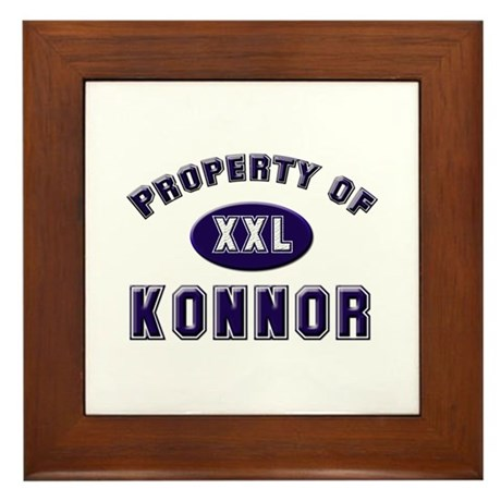 Property of konnor Framed Tile