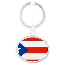 puerto rico Oval Keychain