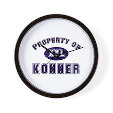 Property of konner Wall Clock