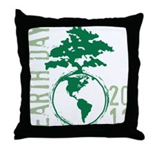Earth Day2011 Throw Pillow