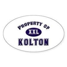 Property of kolton Oval Decal