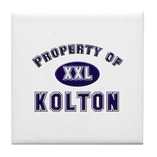 Property of kolton Tile Coaster